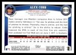 2011 Topps Update #159  Alex Cobb  Back Thumbnail