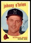 1959 Topps #499  Johnny O'Brien  Front Thumbnail