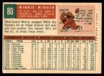 1959 Topps #80  Minnie Minoso  Back Thumbnail