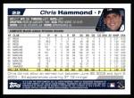 2004 Topps #22  Chris Hammond  Back Thumbnail