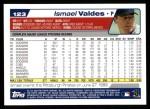 2004 Topps #123  Ismael Valdes  Back Thumbnail