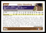 2004 Topps #317   -  Mike Gosling First Year Back Thumbnail