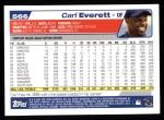 2004 Topps #566  Carl Everett  Back Thumbnail