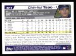 2004 Topps #611  Chin-Hui Tsao  Back Thumbnail
