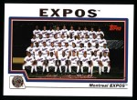 2004 Topps #655   Montreal Expos Team Front Thumbnail