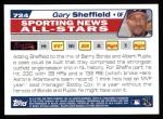 2004 Topps #724   -  Gary Sheffield All-Star Back Thumbnail