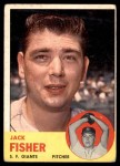 1963 Topps #474  Jack Fisher  Front Thumbnail