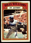 1972 Topps #440   -  Billy Williams In Action Front Thumbnail