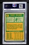 1971 Topps #31  Tom Williams  Back Thumbnail