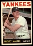 1964 Topps #50  Mickey Mantle  Front Thumbnail