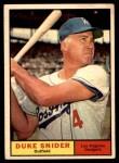 1961 Topps #443  Duke Snider  Front Thumbnail