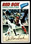 1977 Topps #640  Carlton Fisk  Front Thumbnail