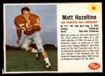 1962 Post Cereal #96  Matt Hazeltine  Front Thumbnail