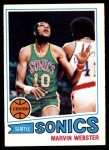 1977 Topps #71  Marvin Webster  Front Thumbnail
