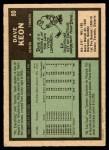 1971 Topps #80  Dave Keon  Back Thumbnail