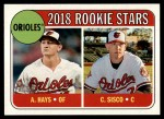2018 Topps Heritage #66  Chance Sisco / Austin Hays  Front Thumbnail