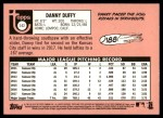 2018 Topps Heritage #142  Danny Duffy  Back Thumbnail