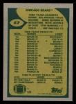 1989 Topps #57   -  Thomas Sanders / Neal Anderson / Dennis McKinnon / Vestee Jackson / Steve McMichael / Mike Singletary Bears Leaders Back Thumbnail