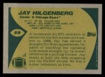1989 Topps #59  Jay Hilgenberg  Back Thumbnail