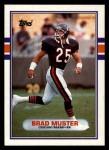 1989 Topps #71  Brad Muster  Front Thumbnail