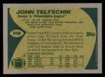 1989 Topps #110  John Teltschik  Back Thumbnail