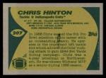 1989 Topps #207  Chris Hinton  Back Thumbnail
