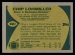 1989 Topps #251  Chip Lohmiller  Back Thumbnail