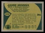 1989 Topps #252  Jamie Morris  Back Thumbnail