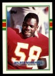1989 Topps #256  Wilber Marshall  Front Thumbnail