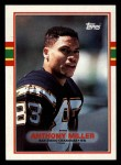 1989 Topps #313  Anthony Miller  Front Thumbnail
