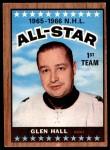 1966 Topps #126   -  Glenn Hall All-Star Front Thumbnail