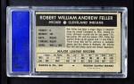 1954 Wilson Franks  Bob Feller  Back Thumbnail