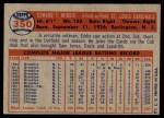 1957 Topps #350  Eddie Miksis  Back Thumbnail