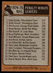 1975 Topps #211   -  Dave Schultz / Andre Dupont Penalty Minute Leaders Back Thumbnail