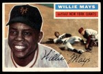 1956 Topps #130 GRY Willie Mays  Front Thumbnail