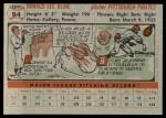 1956 Topps #94  Ron Kline  Back Thumbnail