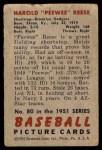 1951 Bowman #80  Pee Wee Reese  Back Thumbnail