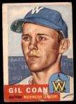 1953 Topps #133  Gil Coan  Front Thumbnail