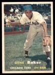 1957 Topps #176 COR Gene Baker  Front Thumbnail