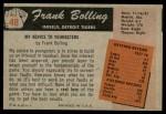 1955 Bowman #48 ERR Milt Bolling  Back Thumbnail