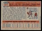 1957 Topps #389  Dave Jolly  Back Thumbnail