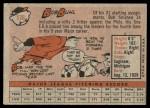 1958 Topps #176  Bob Buhl  Back Thumbnail
