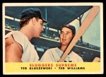 1958 Topps #321   -  Ted Williams / Ted Kluszewski Sluggers Supreme   Front Thumbnail