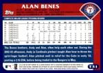 2003 Topps Traded #31 T Alan Benes  Back Thumbnail