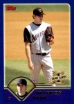 2003 Topps Traded #169 T  -  Brandon Webb First Year Front Thumbnail