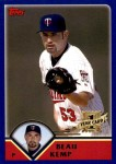 2003 Topps Traded #206 T  -  Beau Kemp First Year Front Thumbnail