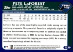2003 Topps Traded #239 T  -  Pete LaForest First Year Back Thumbnail