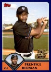 2003 Topps Traded #256 T  -  Prentice Redman First Year Front Thumbnail