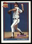 1991 Topps #56  Jeff Parrett  Front Thumbnail