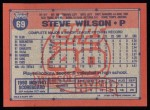 1991 Topps #69  Steve Wilson  Back Thumbnail